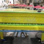 Mosaic piano by ceramic artist Alain Vagh
