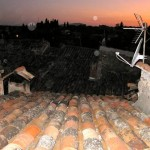 Rooftop sunset, Aups Var