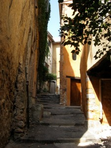 Medieval street Aups Provence