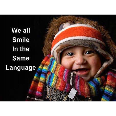 Smile in same language