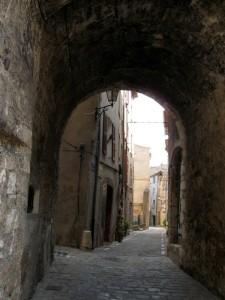 Entering the Medieval village of Aups en Provence