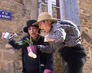 Medieval streets theater in Sarlat